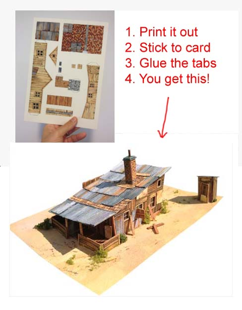 Model railroad track plans and scenery - Printable ho scale building interiors ...